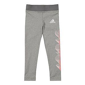 ADIDAS PERFORMANCE Športové nohavice 'G UP2MV A.R. T' sivá melírovaná / biela / oranžovo červená vyobraziť