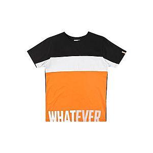 STACCATO Tričko biela / čierna / oranžová vyobraziť