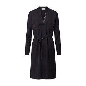 Calvin Klein Košeľové šaty čierna vyobraziť