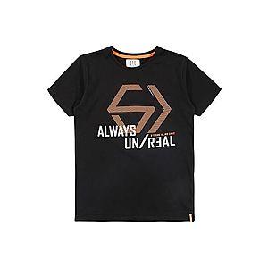 STACCATO Tričko čierna / biela / oranžová vyobraziť