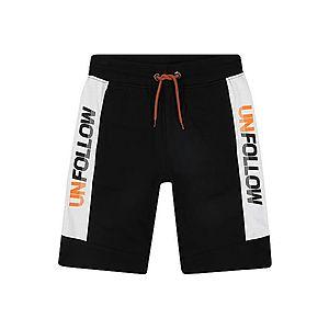 STACCATO Nohavice čierna / biela / oranžová vyobraziť