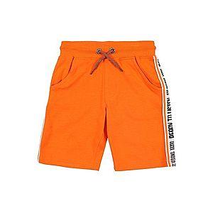 STACCATO Nohavice čierna / oranžová / biela vyobraziť