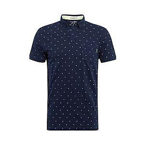 TOM TAILOR DENIM Tričko biela / námornícka modrá vyobraziť