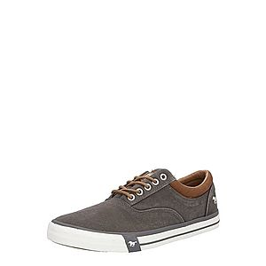 MUSTANG Šnurovacie topánky tmavosivá / hnedé vyobraziť