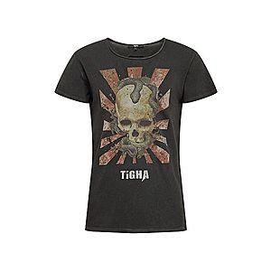 tigha Tričko zmiešané farby / čierna vyobraziť