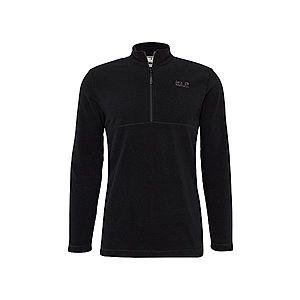 JACK WOLFSKIN Športový sveter 'Gecko' čierna vyobraziť