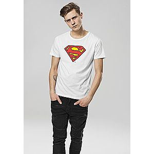 Merchcode Superman Logo Tee white - XL vyobraziť