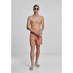 Urban Classics Floral Swim Shorts orange - M vyobraziť