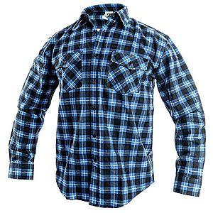 Canis Pracovná flanelová košeľa TOM - Modrá | 41-42 vyobraziť
