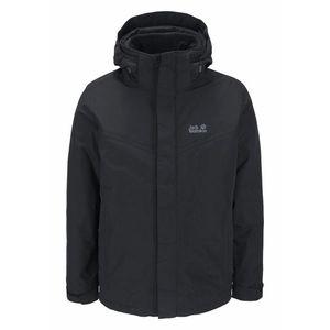 JACK WOLFSKIN Outdoorová bunda 'GOTLAND' čierna vyobraziť