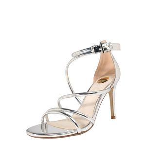 BUFFALO Remienkové sandále 'ASHA' strieborná vyobraziť