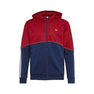 ADIDAS ORIGINALS Tepláková bunda biela / modrá / červená vyobraziť