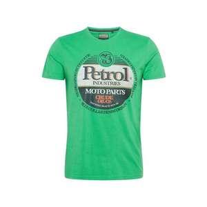 Petrol Industries Tričko zelená / čierna / biela / oranžová vyobraziť