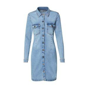 Modrá dlhá rifľová košeľa Jacqueline de Yong vyobraziť