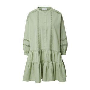 EDITED Košeľové šaty 'Despina' zelená / tyrkysová vyobraziť