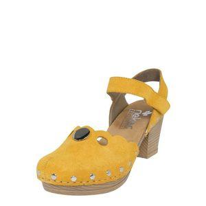 RIEKER Remienkové sandále žltá vyobraziť