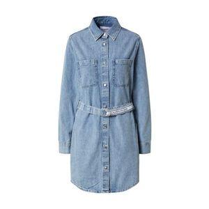 Calvin Klein Jeans Košeľové šaty modrá denim vyobraziť