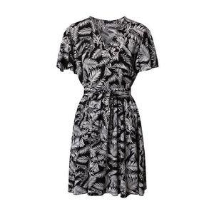 Trendyol Letné šaty čierna / biela vyobraziť