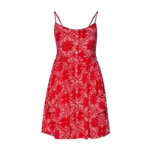 Superdry Letné šaty 'Amelie' červená / biela vyobraziť