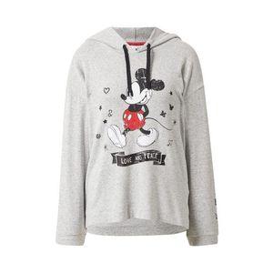 Frogbox Mikina 'Mickey' svetlosivá / čierna / červená / biela vyobraziť