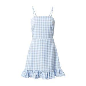 Missguided Letné šaty 'Cami' modrá / biela vyobraziť