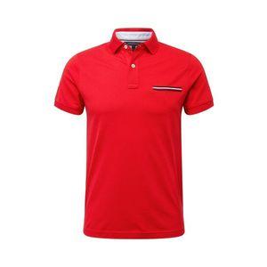 TOMMY HILFIGER Tričko červená / námornícka modrá / biela vyobraziť