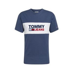 Tommy Jeans Tričko červená / námornícka modrá / biela vyobraziť