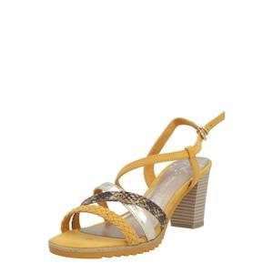 MARCO TOZZI Remienkové sandále žltá / hnedá vyobraziť