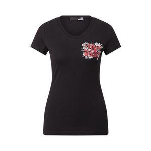 Love Moschino Tričko 'W4B195ME1951' čierna / červená / biela / svetlosivá vyobraziť