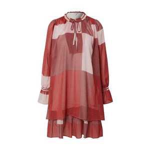 mbym Šaty 'Melinna' červená / vínovo červená / burgundská / biela vyobraziť