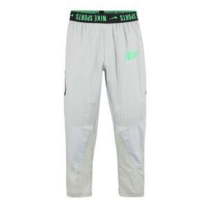 NIKE Športové nohavice zelená / sivá / čierna vyobraziť