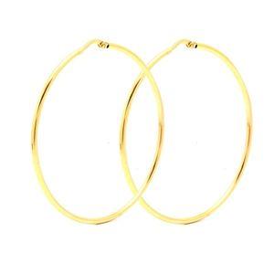 Zlaté náušnice CALEY - veľké kruhy vyobraziť