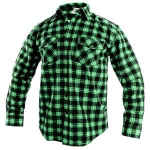 Canis Pracovná flanelová košeľa TOM - Zelená | 41-42 vyobraziť