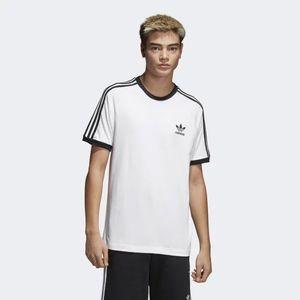Pánské Tričko Adidas 3-Stripes Tee White - 2XL vyobraziť
