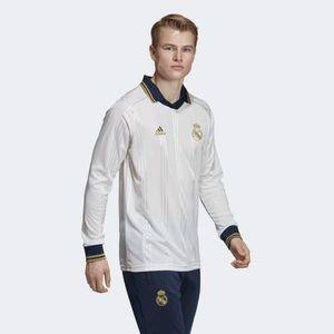 Tričko s dlhým rukávom Adidas Real Madrid Icons Tee White - M vyobraziť