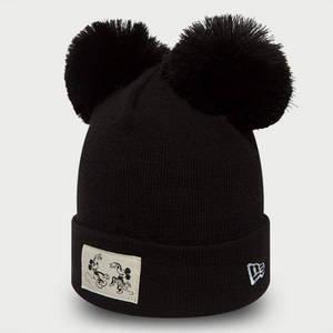 Detská zimná čapica New Era Youth Disney Cuff Minnie Mouse Knit Black - UNI vyobraziť