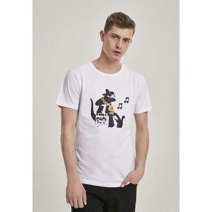 Mr. Tee Banksy HipHop Rat Tee white - M vyobraziť