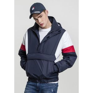 Urban Classics 3 Tone Pull Over Jacket navy/white/fire red - M vyobraziť