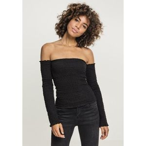 Urban Classics Ladies Cold Shoulder Smoke L/S black - S vyobraziť