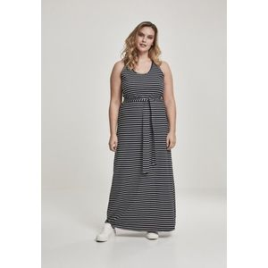 Urban Classics Ladies Long Racer Back Dress black/white - M vyobraziť