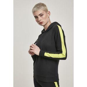Urban Classics Ladies Neon Shoulder Stripe Hoody black/electriclime - M vyobraziť