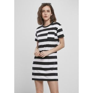 Urban Classics Ladies Stripe Boxy Tee Dress black/white - S vyobraziť