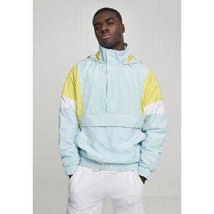 Urban Classics Light 3-Tone Pull Over Jacket lightblue/brightyellow/white - S vyobraziť