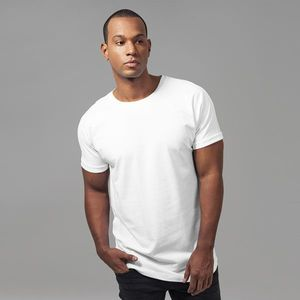 Urban Classics Long Shaped Turnup Tee white - S vyobraziť