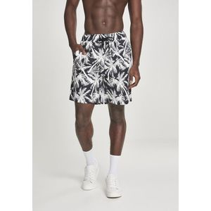 Urban Classics Pattern Resort Shorts palm/white - M vyobraziť