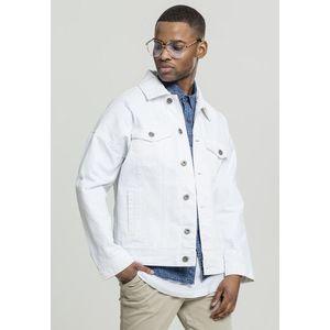 Urban Classics Ripped Denim Jacket white - S vyobraziť