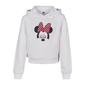 Mister Tee Kids Minnie Mouse Bow Cropped Hoody white - 110/116 vyobraziť