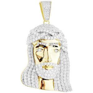 Iced Out Premium Bling - 925 Sterling Silver Jesus Head Pendant gold - Uni vyobraziť