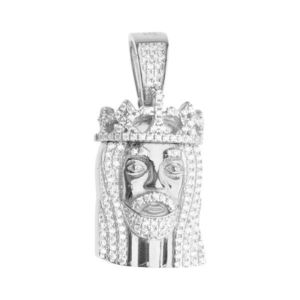 Iced Out 925 Iced Out Sterling Silver Pendant - MINI JESUS - Uni vyobraziť