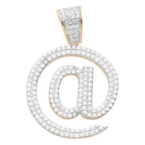 Iced Out Premium Bling - 925 Sterling Silver @ Pendant gold - Uni vyobraziť